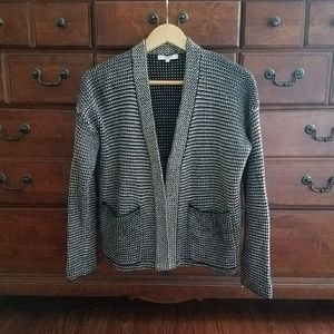 Black and White Patterned Madewell Sweater XS